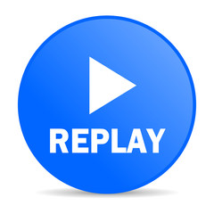 replay internet blue icon