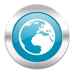 earth internet blue icon