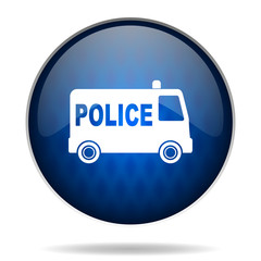police internet blue icon