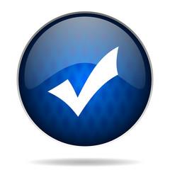 accept internet blue icon