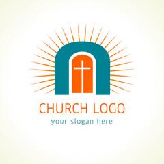 Jesus is the door of salvation church logo