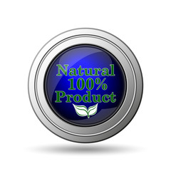 100 percent natural product icon