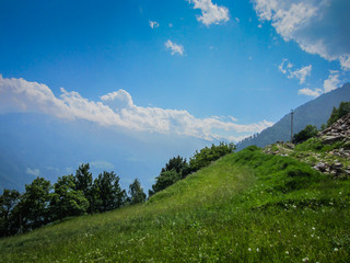 Meraner Höhenweg Blick in den Vinschgau