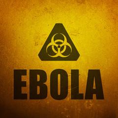 Ebola biohazard yellow alert sign