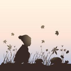 kid hedgehog silhouette