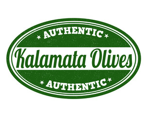 Kalamata olives stamp