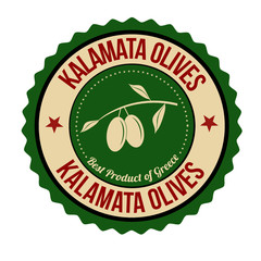 Kalamata olives sticker or stamp