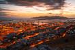 Leinwanddruck Bild - View of container port in Piraeus, Athens.