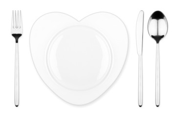 heart place setting