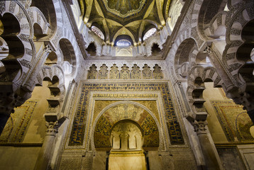 CORDOBA, SPAIN: Interior of Mezquita-Catedral,