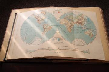 Vintage atlas.