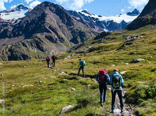 trekking in alta montagna © Franco Bissoni