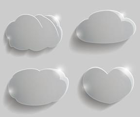 Set glass clouds