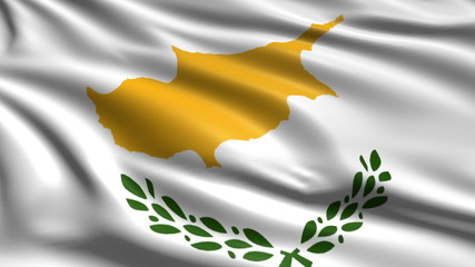 flag of Cyprus with fabric structure; looping