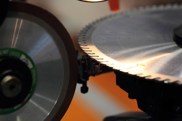 machine for sharpeninig a circular saw blade