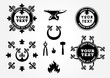 Blacksmith graphic labels collection set