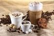 Leinwandbild Motiv Kaffee, Espresso, Latte Macchiato