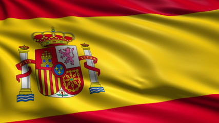 flag of Spain with fabric structure; looping