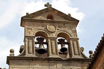 Campanario con campanas, Cáceres, España