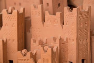 Mock up of Ait Ben Haddou, a medieval Kasbah built in adobe