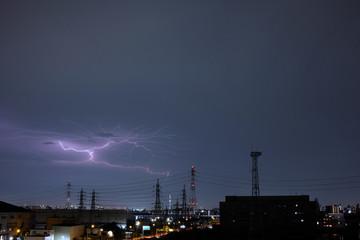 雷 送電線 電気