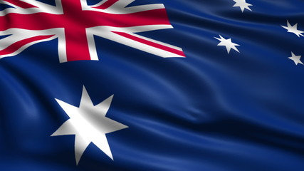 flag of Australia with fabric structure; looping