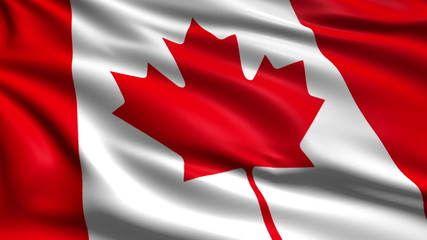 flag of Canada with fabric structure; looping