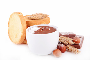 chocolate spread and bread
