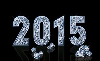 Diamond new 2015 year, vector illustration