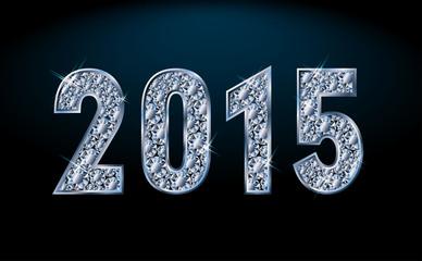 New diamond 2015 year, vector illustration