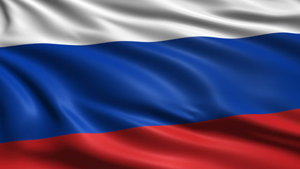 flag of Russia with fabric structure; looping