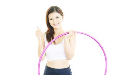 運動を楽しむ女性