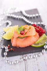 smoked salmon, appetizer