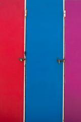 Vintage three surfers colorful lockers