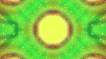 Circle Abstract VJ Looping Animated Background in Green