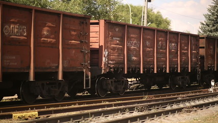 Wagons of a Freight Train