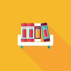 bookshelf flat icon with long shadow,eps10