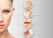 beauty concept skin aging. anti-aging procedures,