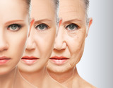 beauty concept skin aging. anti-aging procedures poster