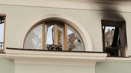 Destroyed Building in War