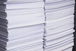 Stack of used paper for reuse
