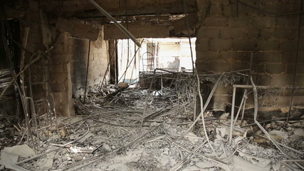 Commercial Building Destroyed in the War