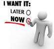 I Want It Now Vs Later Choose Immediate Gratification Order Serv
