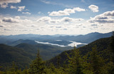 Fototapety Adirondack mountains forests and lakes landscape