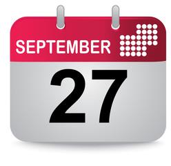 September twenty seventh, calendar