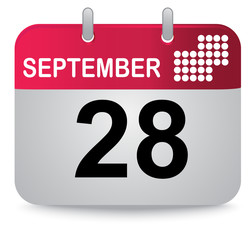 September twenty eight, calendar