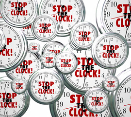 Stop the Clock Words Free Time Out Pause Break