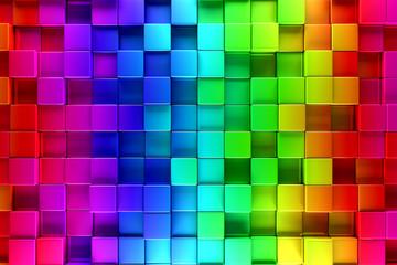 fototapeta 3D kolorowe bloki