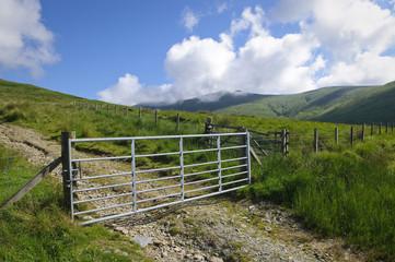 Mountain farm gate