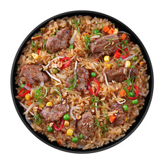 Veal meat with rice